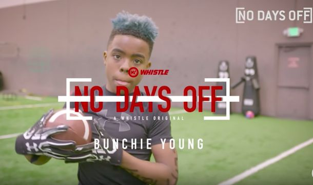 Bunchie Young is a 12-year old football prodigy with blazing speed