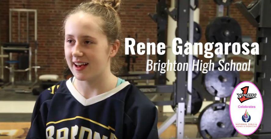Teen girl killing it on boys ice hockey team