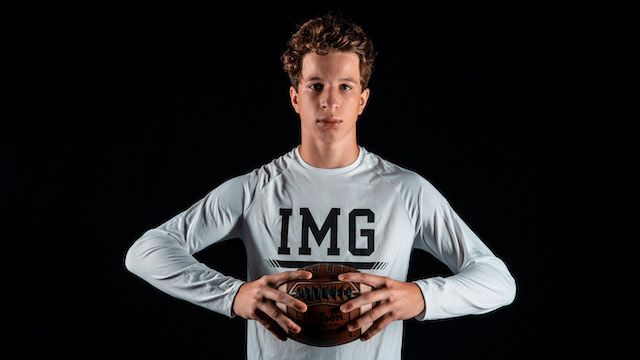 2025 QB Luke Carney is excited to take his talents to IMG Academy