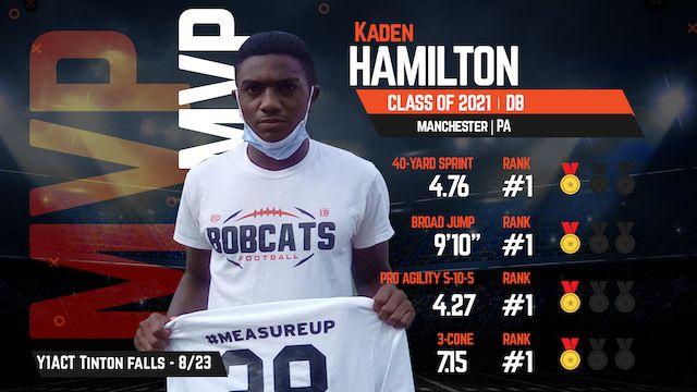 2021 DB Kaden Hamilton named MVP at Youth1's Camp & Combine in Tinton Falls, NJ