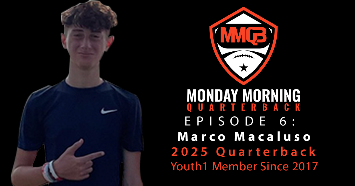 Monday Morning Quarterback: Episode 6 featuring 2025 QB Marco Macaluso III