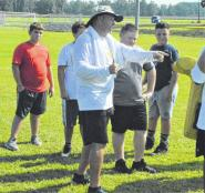 Former coaches, college players give guidance at youth football camp | Robesonian