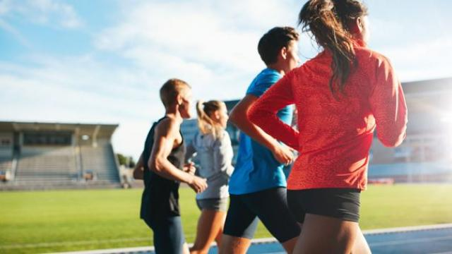 youth running to stay in shape in the offseason