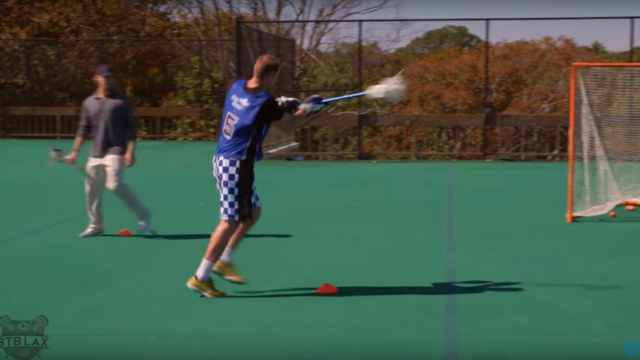 2 lacrosse drills that simulate live game action